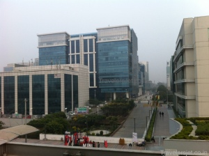 DLF cybercity View from terrace